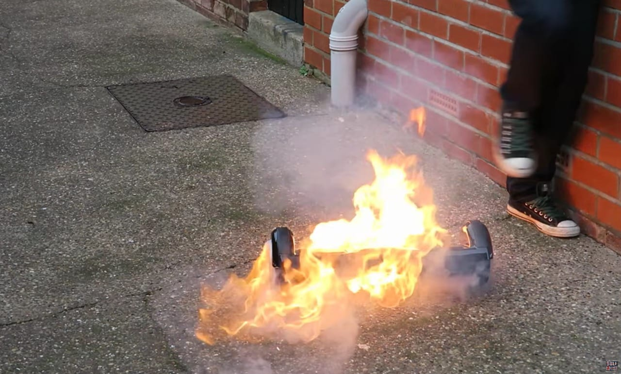 Brandende Hoverboards